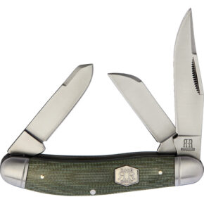 Rough Ryder Sowbelly Green Micarta Brushed